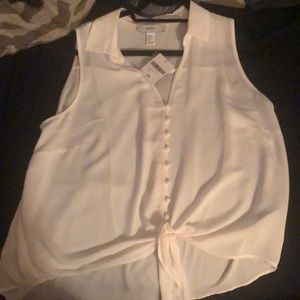White button down shirt with tags forever 21